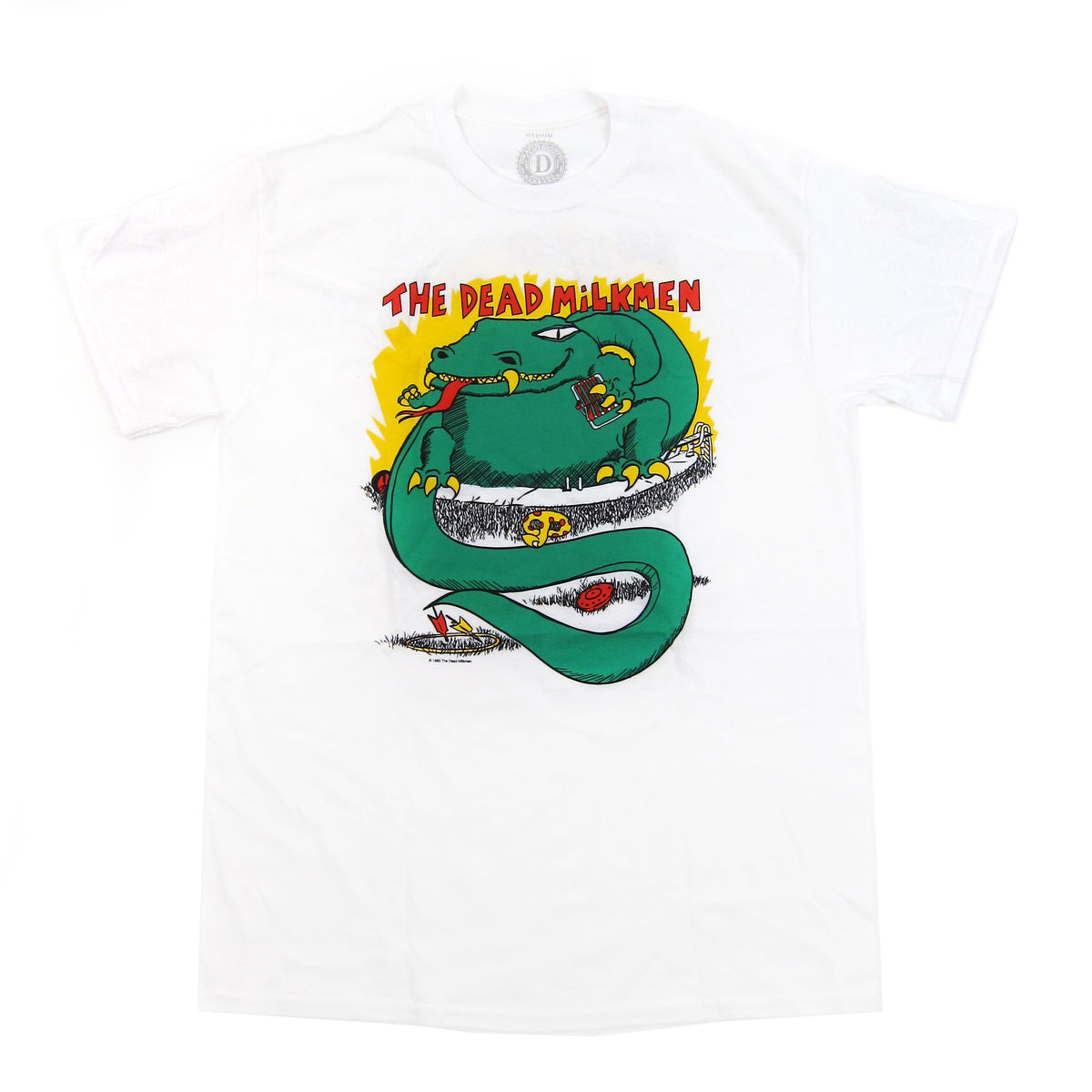 The Dead Milkmen: Big Lizard In My Backyard Shirt - White