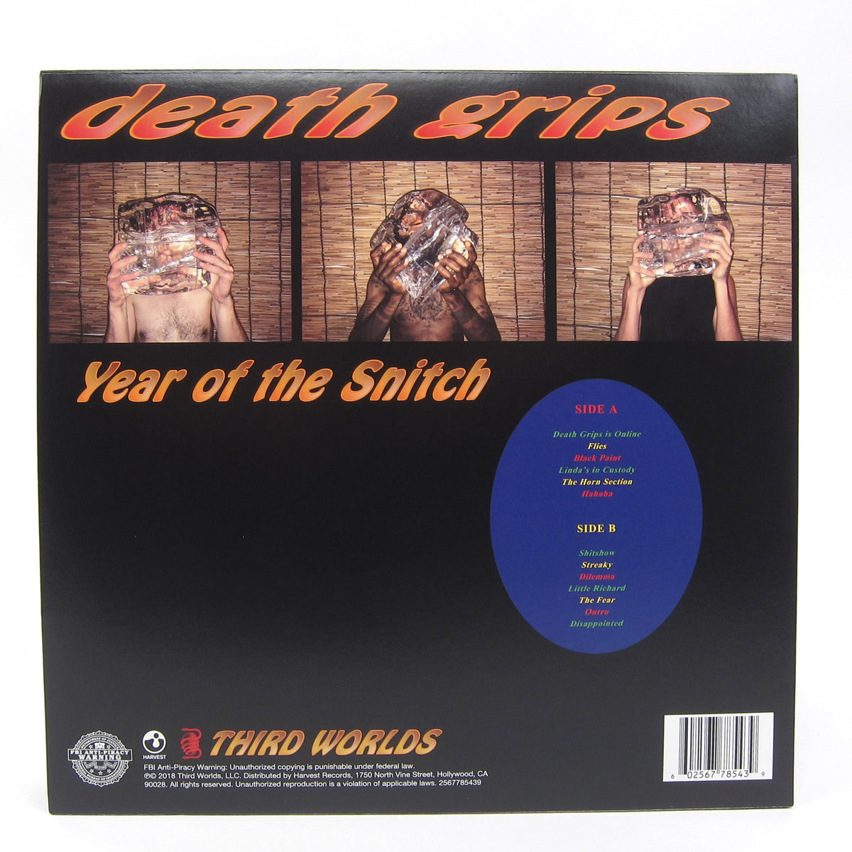 Death Grips: Year Of The Snitch (Indie Exclusive Colored Vinyl) Vinyl LP