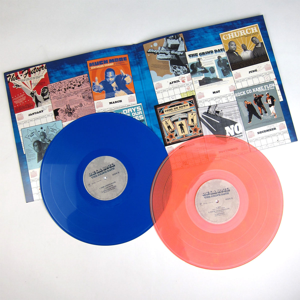 De La Soul: The Grind Date 10th Anniversary Edition (Blue & Orange Vinyl) Vinyl 2LP detail