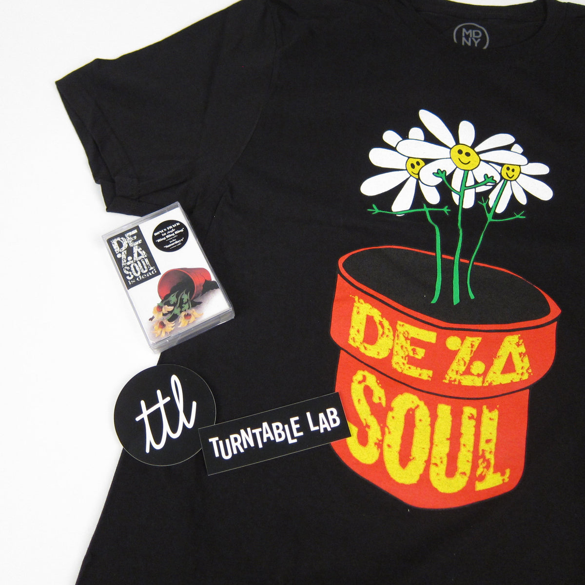 De La Soul: De La Soul Is Dead Shirt + Cassette Bundle