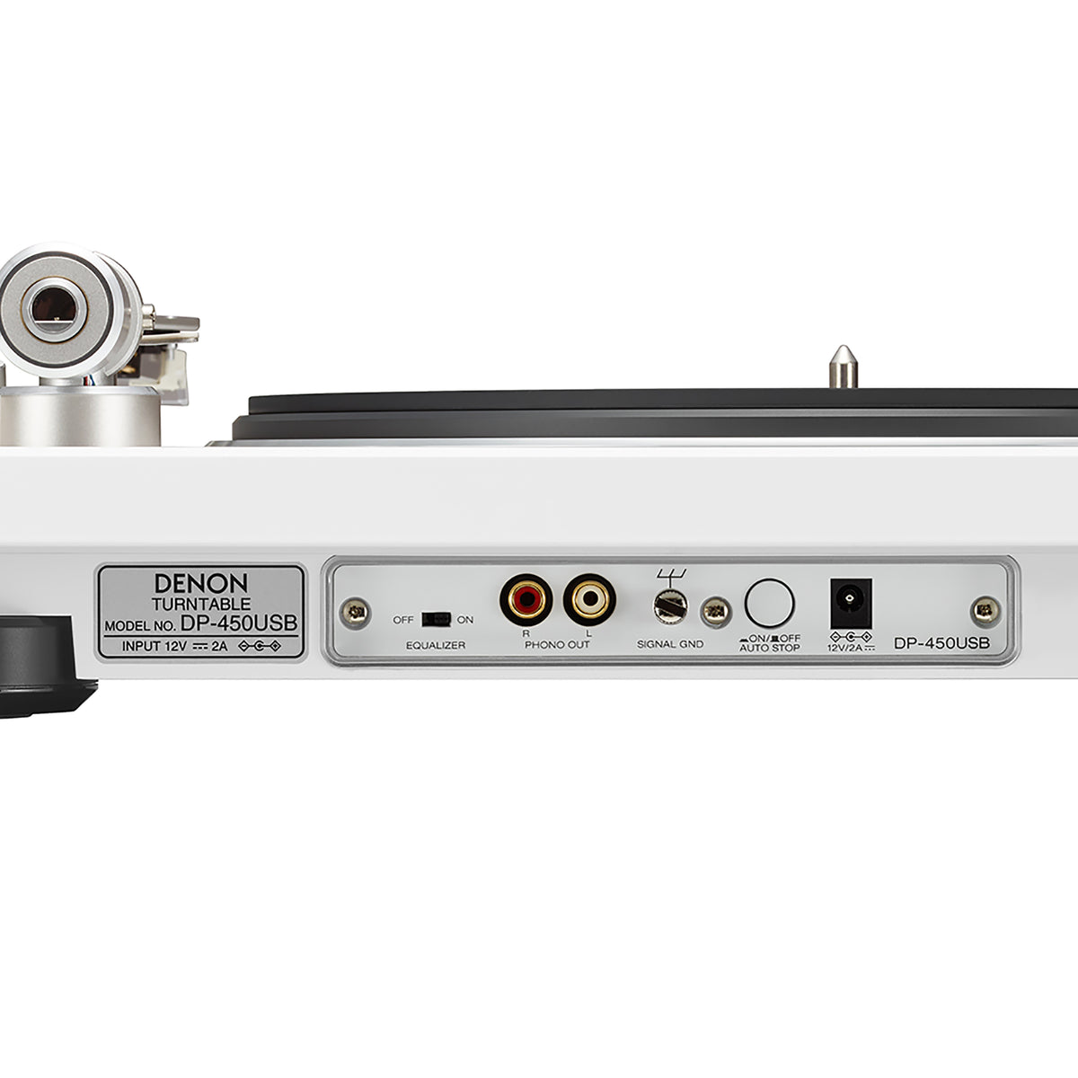 Denon: DP-450USB Turntable - White (DP450USBWT) usb detail
