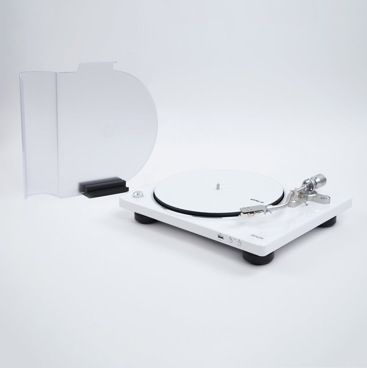 Denon: DP-450USB Turntable - White (DP450USBWT) lid