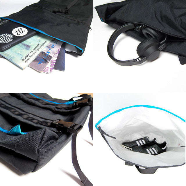 turntable lab rolltop bag - details