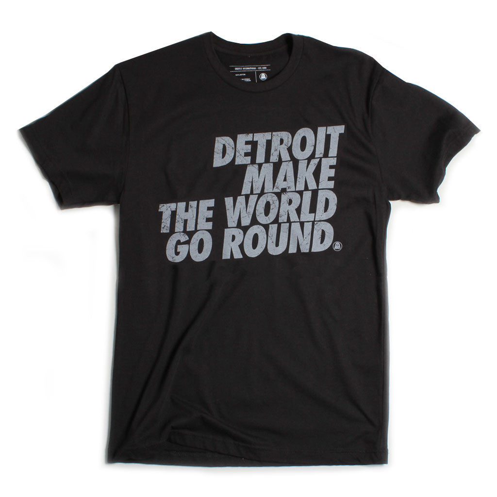 Ghostly International: Detroit Make The World Shirt - Black