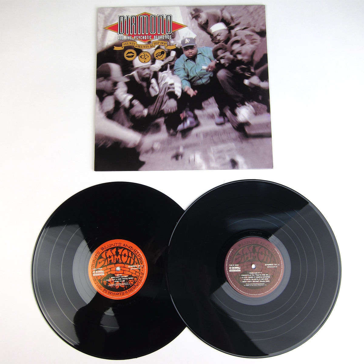 Diamond D & The Psychotic Neurotics: Stunts, Blunts and Hip Hop Vinyl 2LP detail