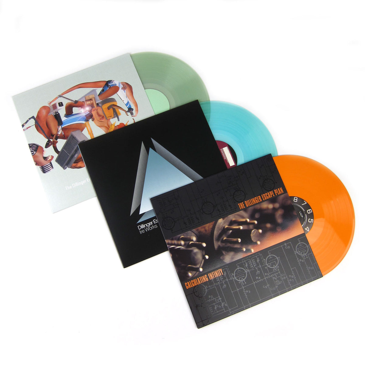 The Dillinger Escape Plan: Colored Vinyl LP Album Pack (Calculating Infinity, Miss Machine, Ire Works)