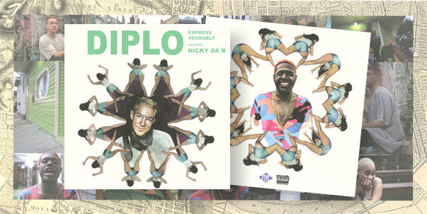 "Diplo: Express Yourself (feat. Nicky Da B) 7""  with poster"