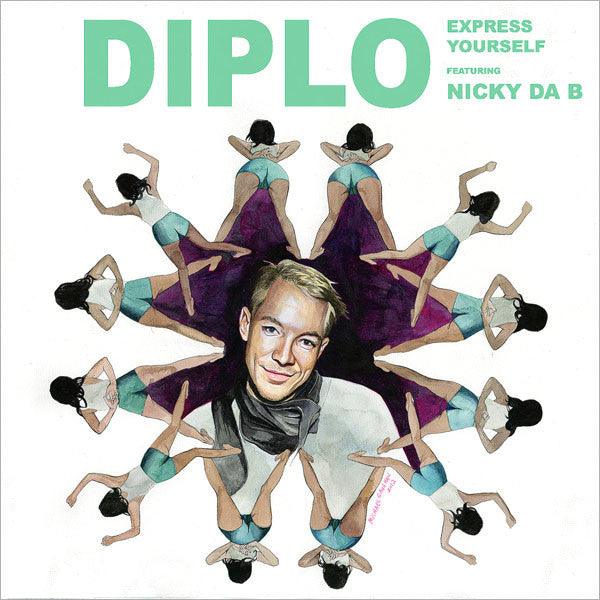 Diplo: Express Yourself (feat. Nicky Da B) 7""