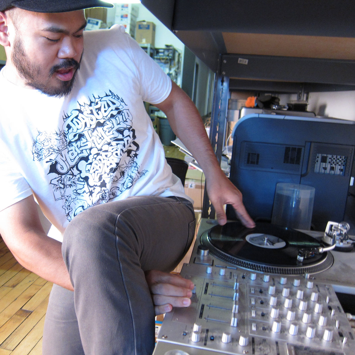Turntable Lab: Toasted Marshmallow Feet Braxe Shirt (TTL x Thud Rumble) model