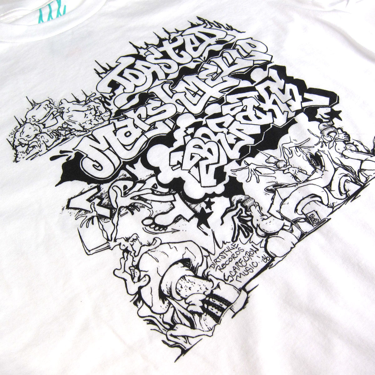 Turntable Lab: Toasted Marshmallow Feet Braxe Shirt (TTL x Thud Rumble) detail