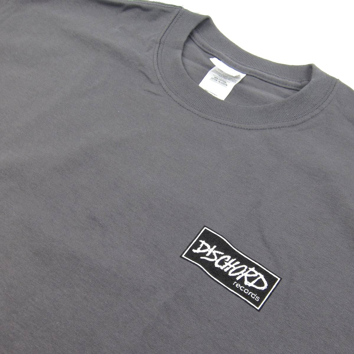 Dischord Records: Box Logo Shirt - Charcoal
