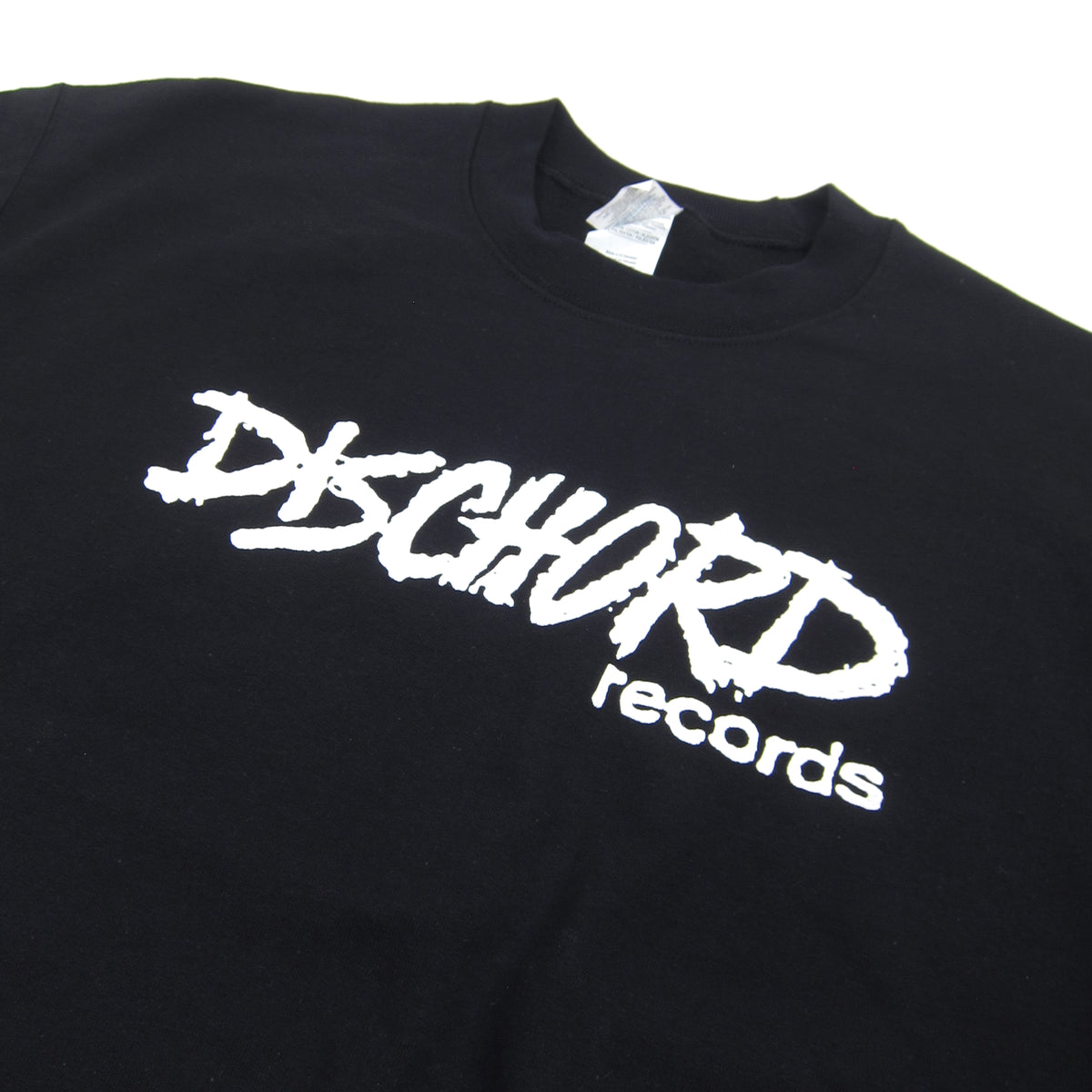 Dischord Records: Old Logo Crewneck Sweatshirt - Black