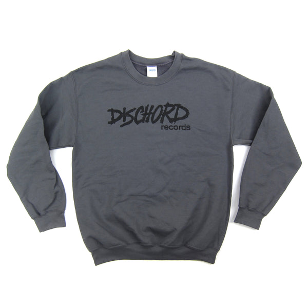 Dischord Records: Old Logo Crewneck Sweatshirt - Charcoal