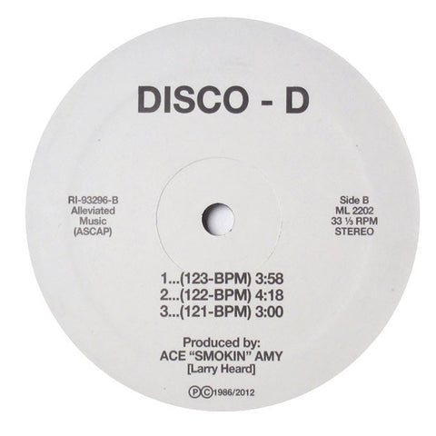 Disco D: Dance Tracs (Larry Heard) Vinyl 12""