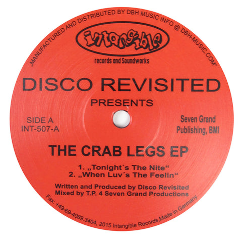 Disco Revisited: The Crab Legs EP Vinyl 12""