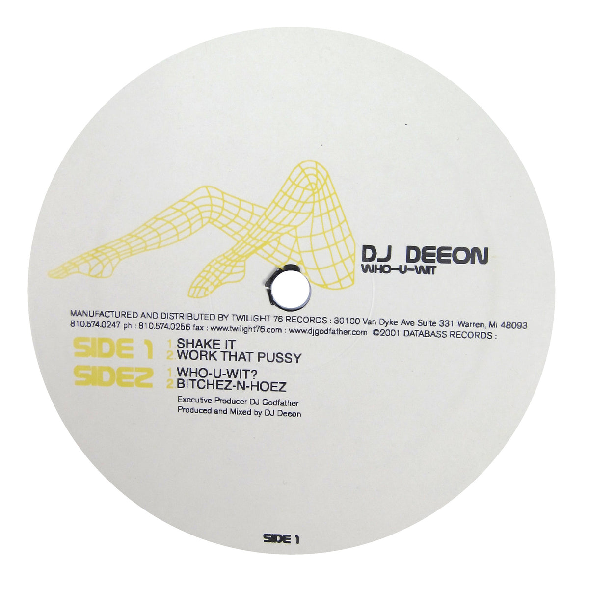 DJ Deeon: Who-U-Wit Vinyl 12""