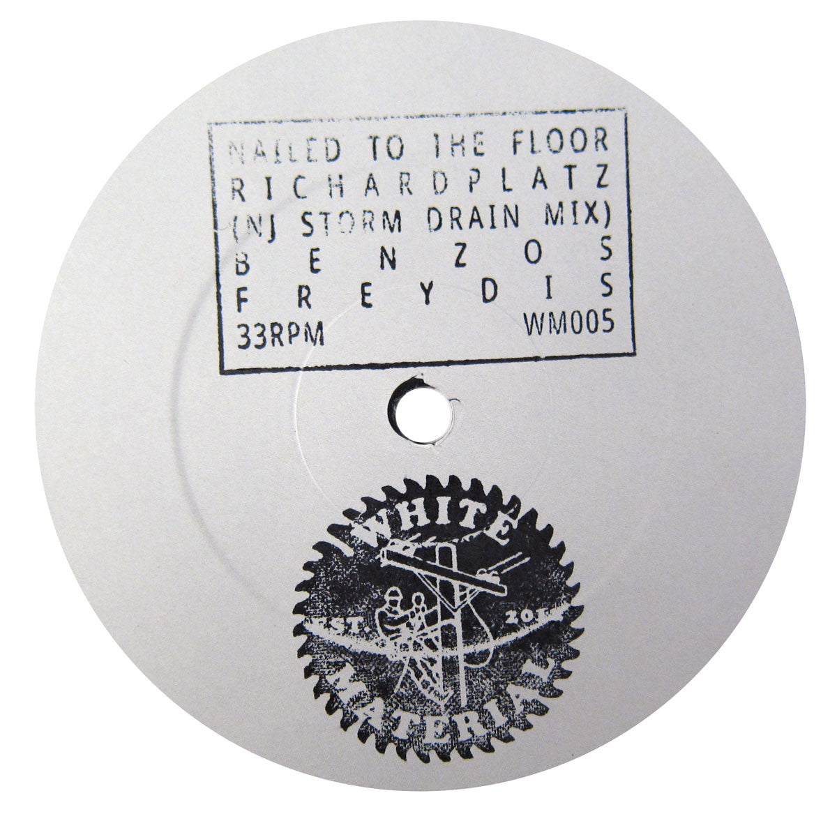 DJ Richard: Nailed to the Floor (NJ Storm Drain Mix) Vinyl 12""