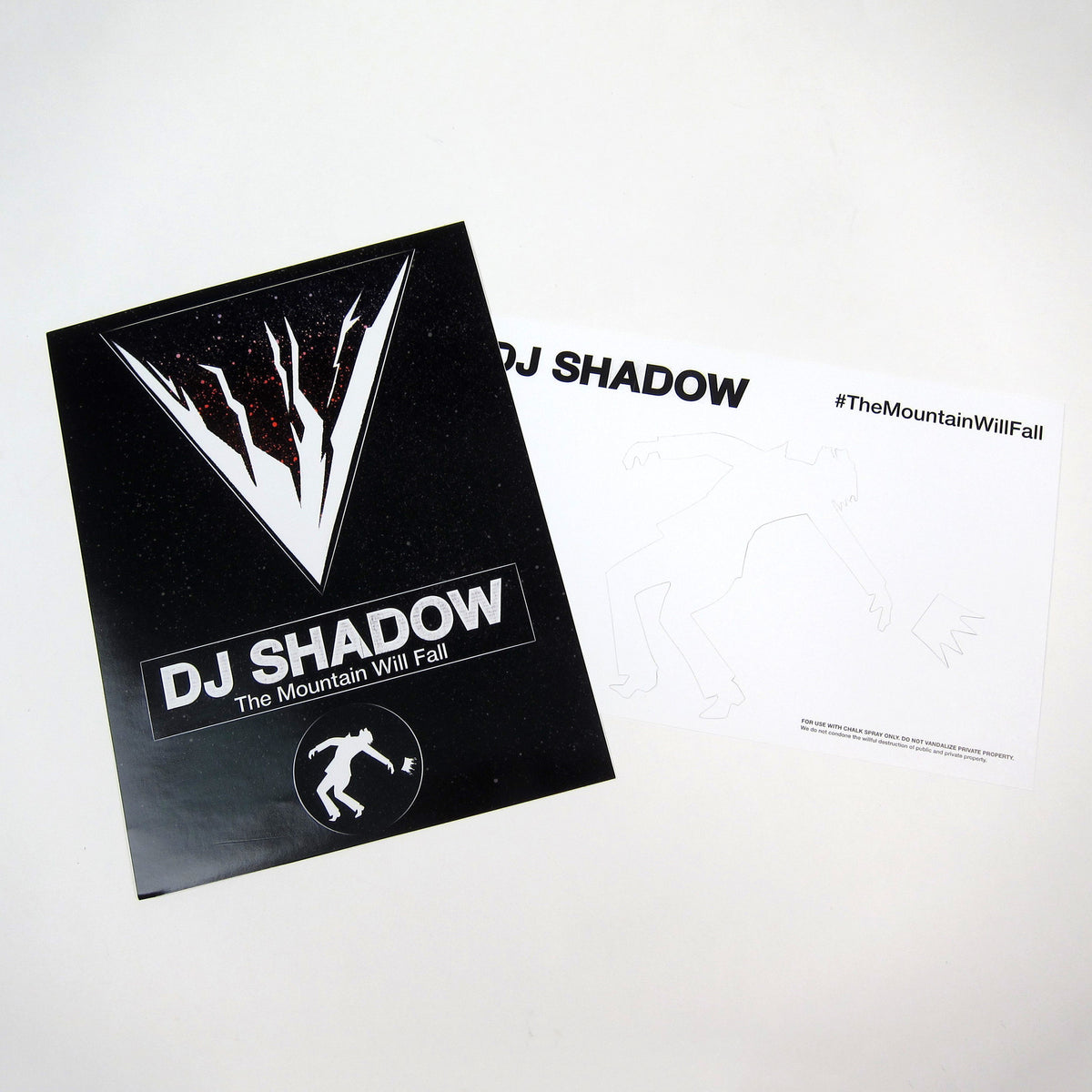 DJ Shadow: The Mountain Will Fall Vinyl 2LP stencils