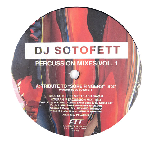 DJ Sotofett: Percussion Mixes Vol.1 Vinyl 12""