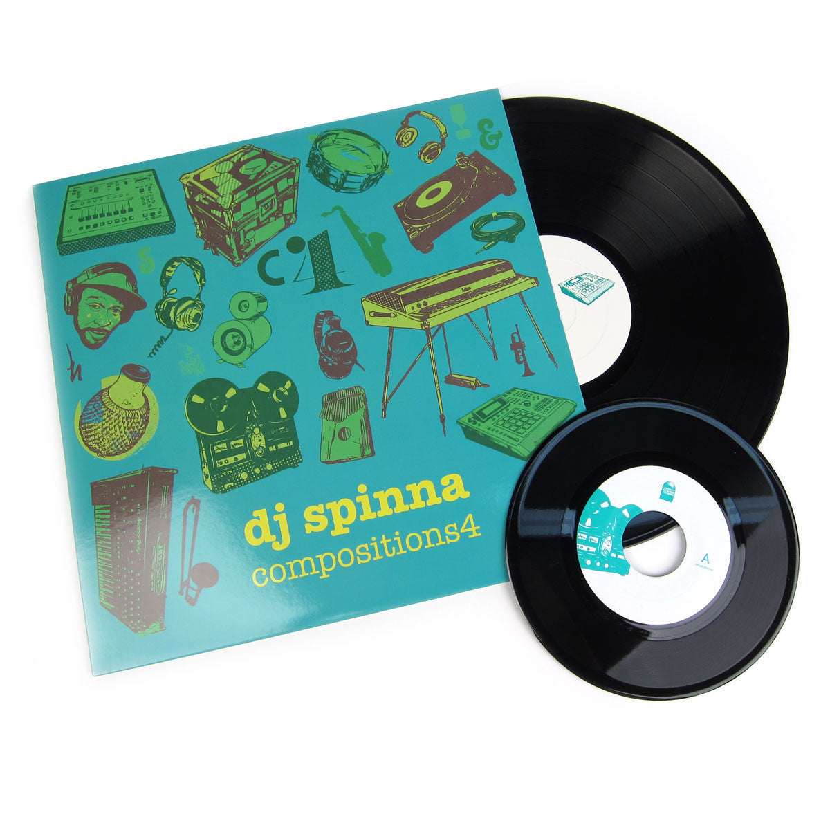 DJ Spinna: Compositions 4 Vinyl LP+7""