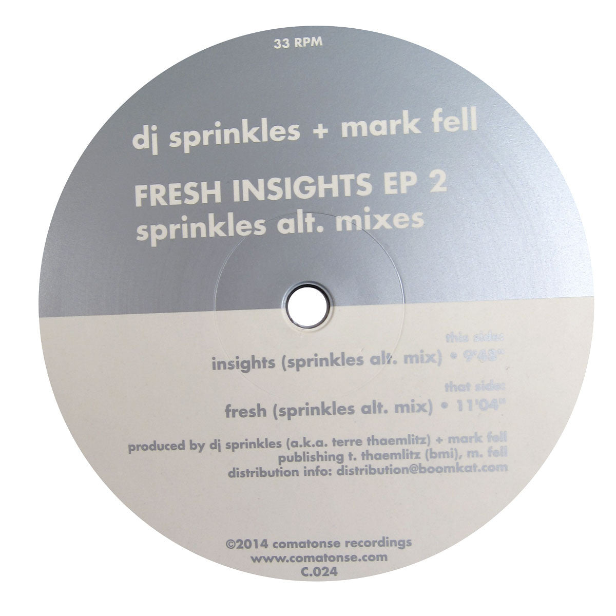 DJ Sprinkles + Mark Fell: Fresh Insights EP 2 (Sprinkles Alt. Mixes) Vinyl 12""