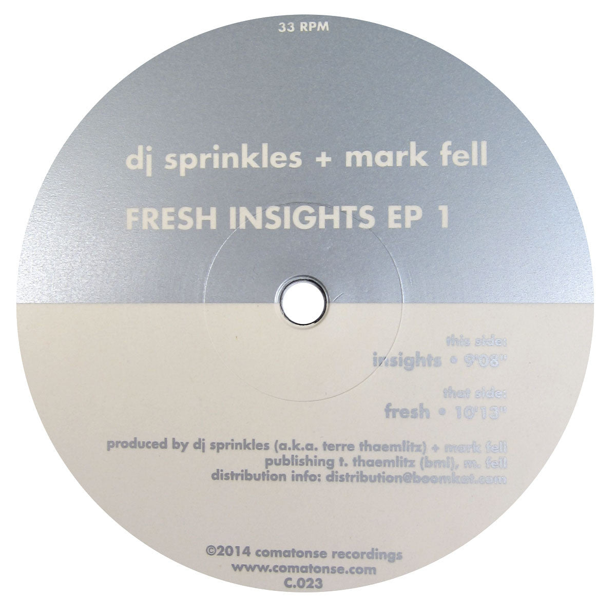 DJ Sprinkles + Mark Fell: Fresh Insights EP 1 Vinyl 12""