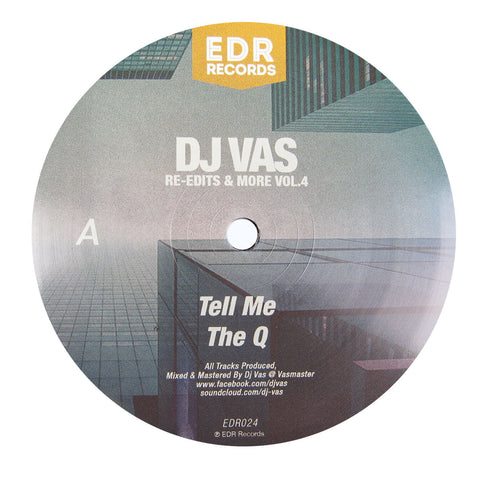 DJ Vas: Re-Edits & More Vol.4 (The Voice Of Q, Curtis Mayfield, Rare Gems Odyssey, Cameo) Vinyl 12""