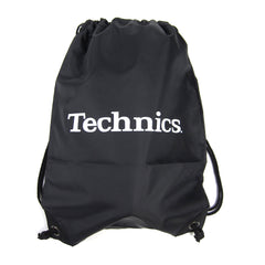 Technics: Wax Sac Drawstring Bag - Black
