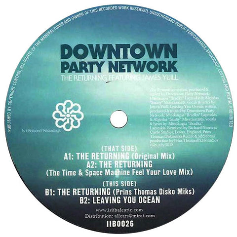 Downtown Party Network: The Returning (Time & Space Machine, Prins Thomas) 12""