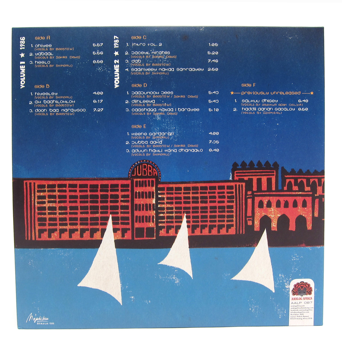 Dur-Dur Band: Of Somalia Vol.1&2 Vinyl 3LP