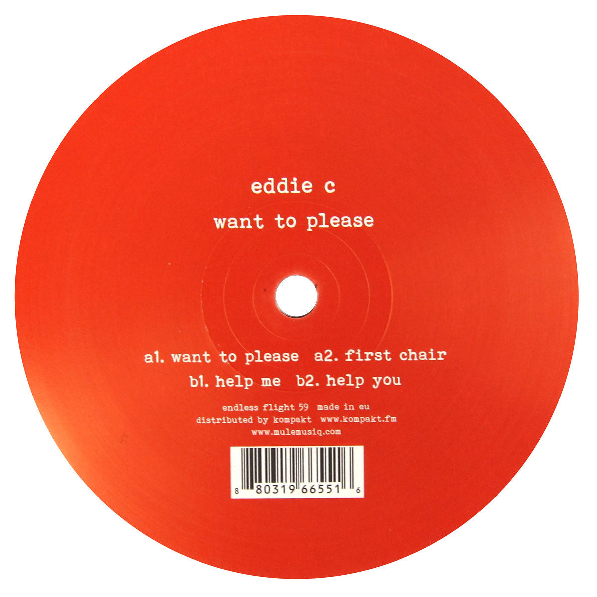 Eddie C: Want To Vinyl 12""