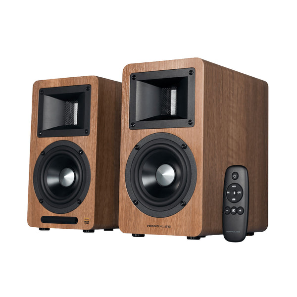 Edifier: Airpulse A80 Powered Speakers w/Bluetooth - Wood Brown