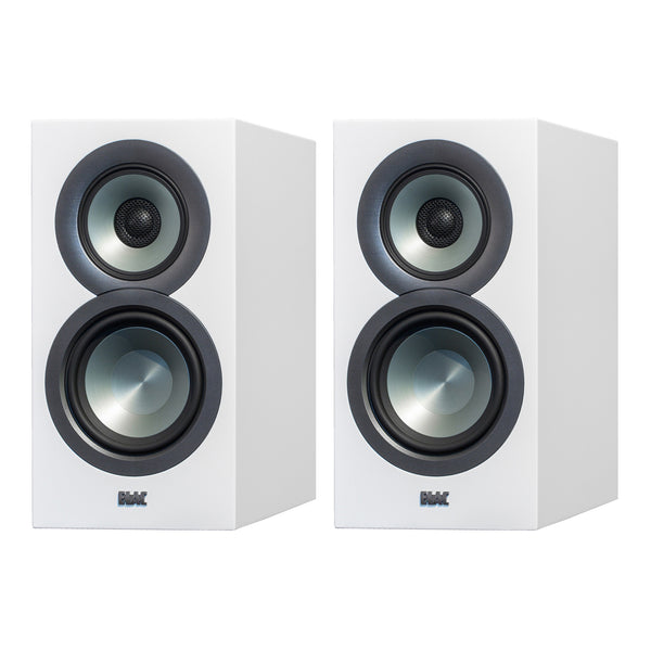 elac uni fi bs u5 slim 5 1 4 bookshelf speakers white bsu5 sw