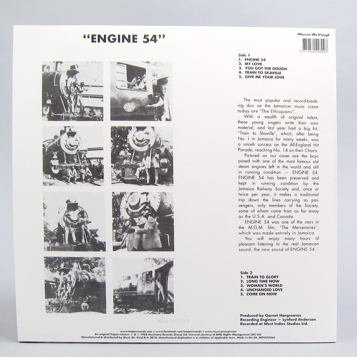 The Ethiopians: Engine 54 (Music On Vinyl 180g, Colored Vinyl) Vinyl LP
