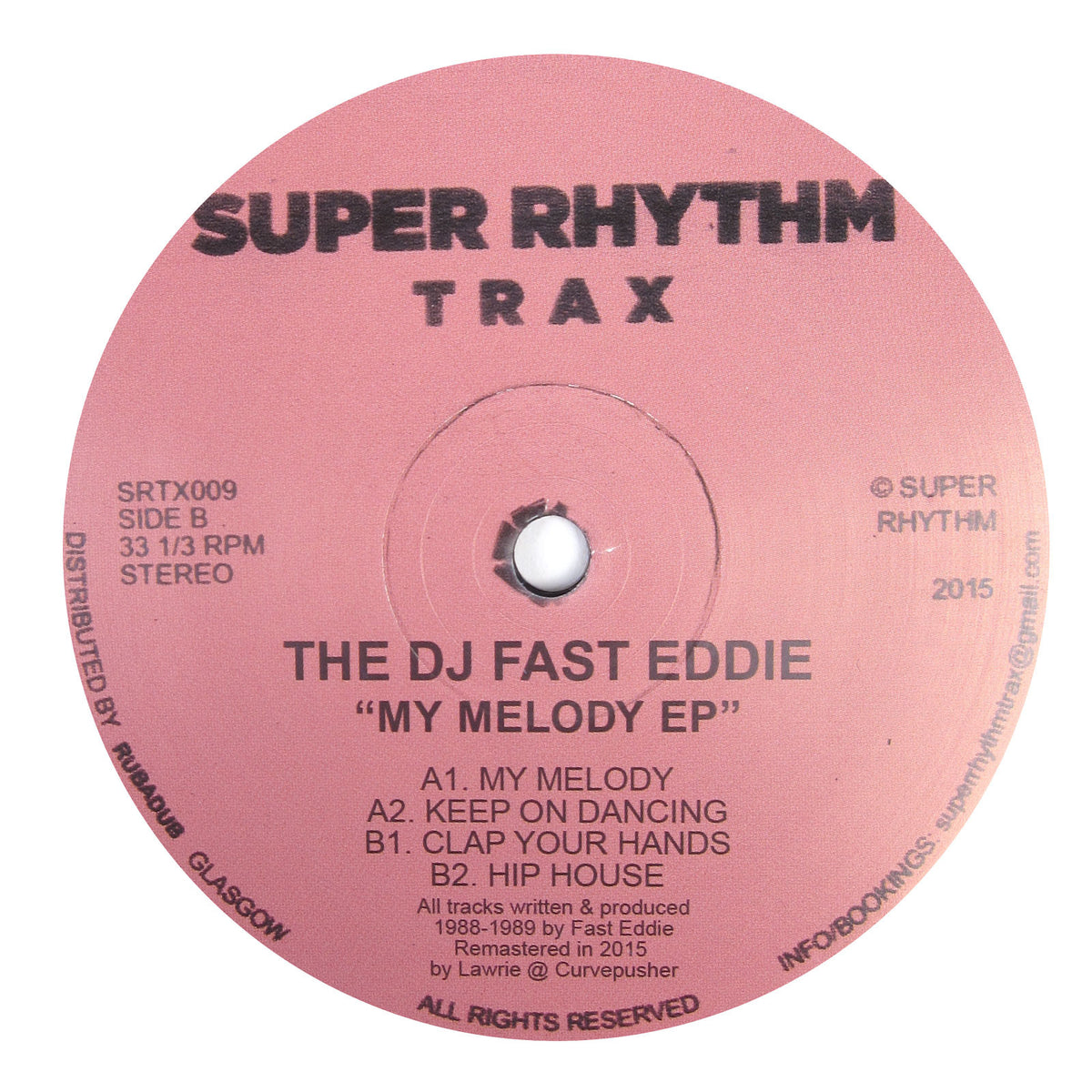 The Deejay Fast Eddie: My Melody EP Vinyl 12""
