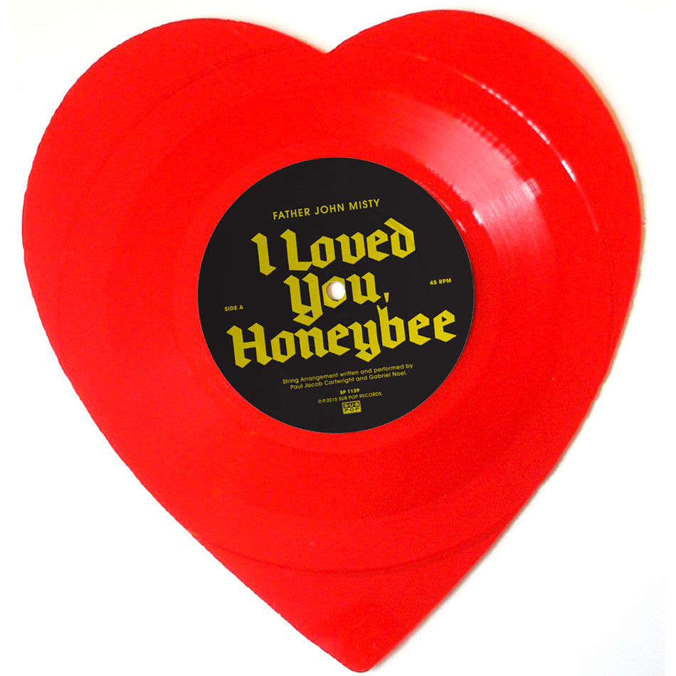 "Father John Misty: I Love You Honeybear (Heart Shaped Vinyl) Vinyl 7"" (Record Store Day)"