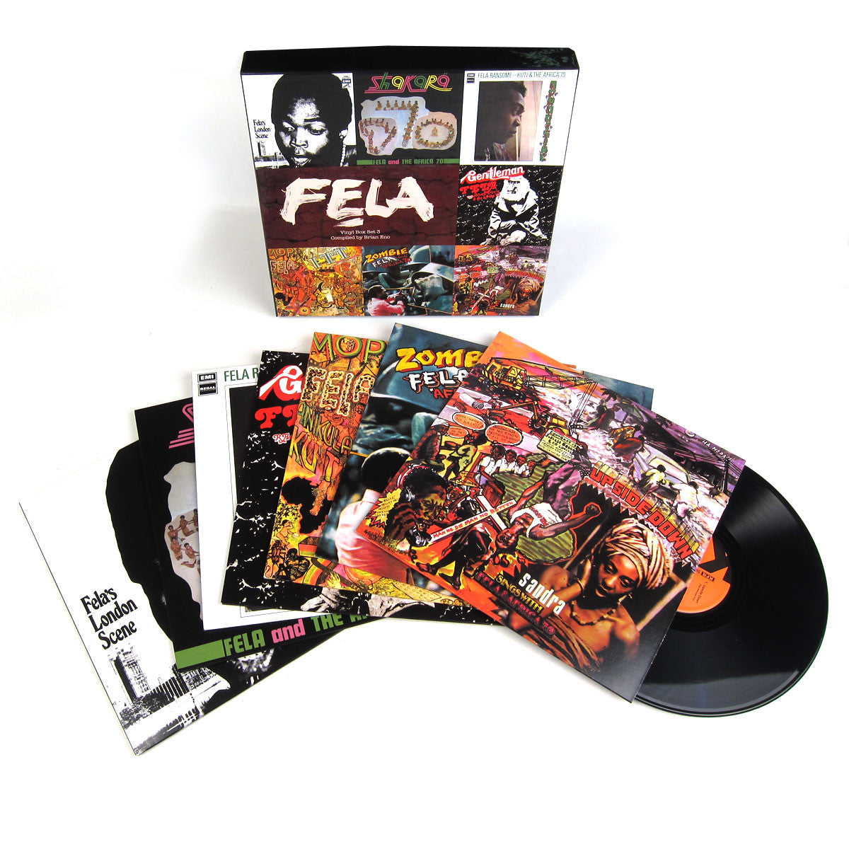 Fela Kuti: Vinyl Box Set 3 Compiled By Brian Eno (Booklet, Poster, 180g) Vinyl 7LP