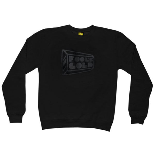 Fool's Gold: Logo Crewneck Sweatshirt - Black on Black