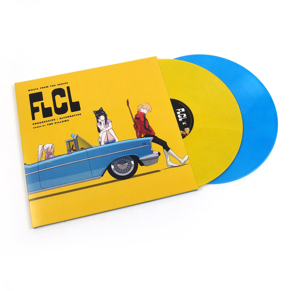 The Pillows: FLCL Progressive / Alternative (Yellow + Blue Colored Vinyl) Vinyl 2LP