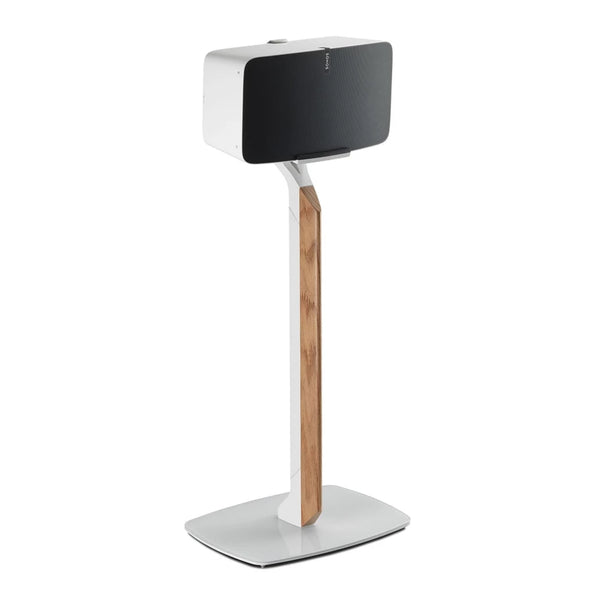 Flexson: Premium Floor Stand For Sonos Play 5 - White / Oak (Single) (AAV-FLXP5PFS1011)