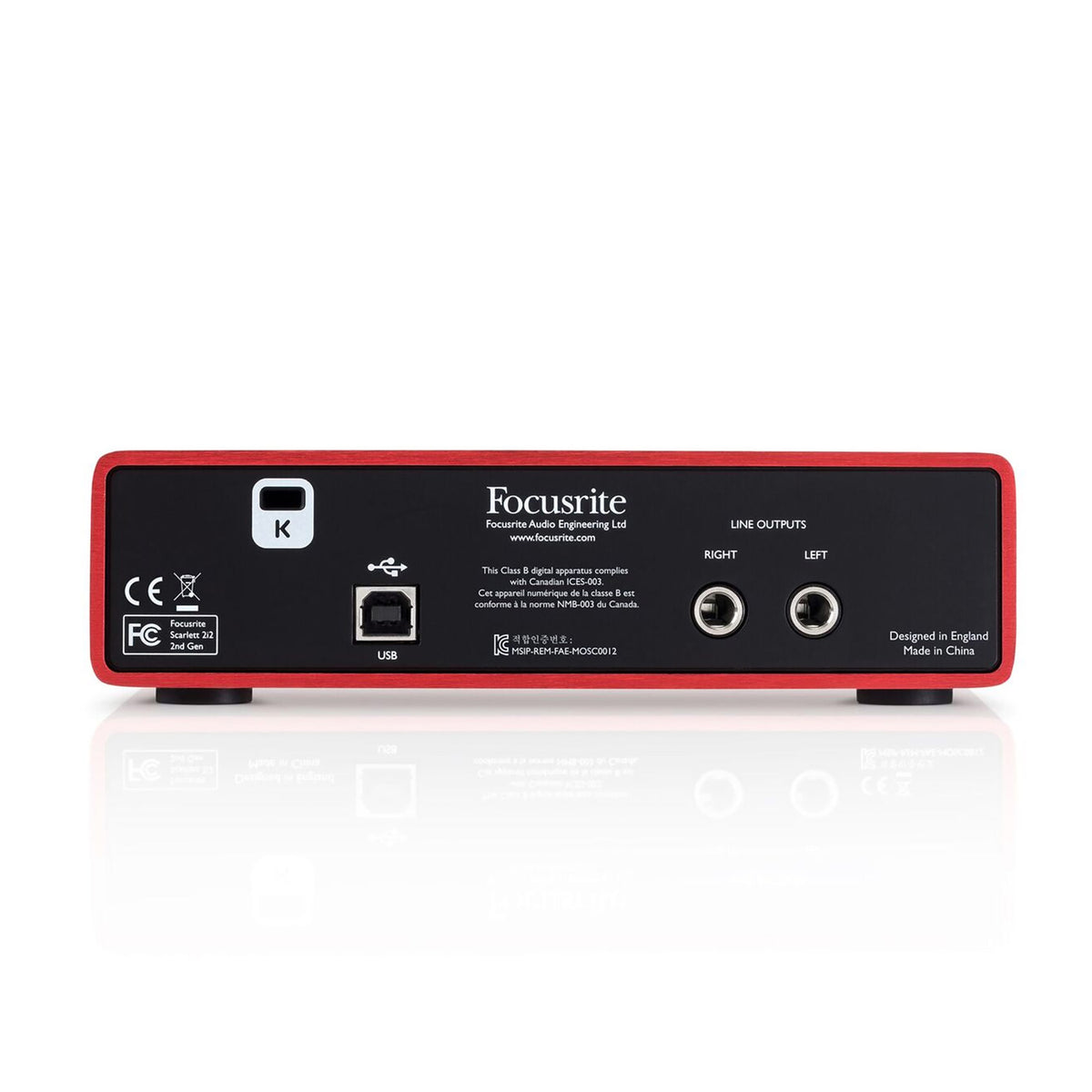 Focusrite: Scarlett 2i2 Studio (2nd Gen) USB Audio Interface + Recording Bundle