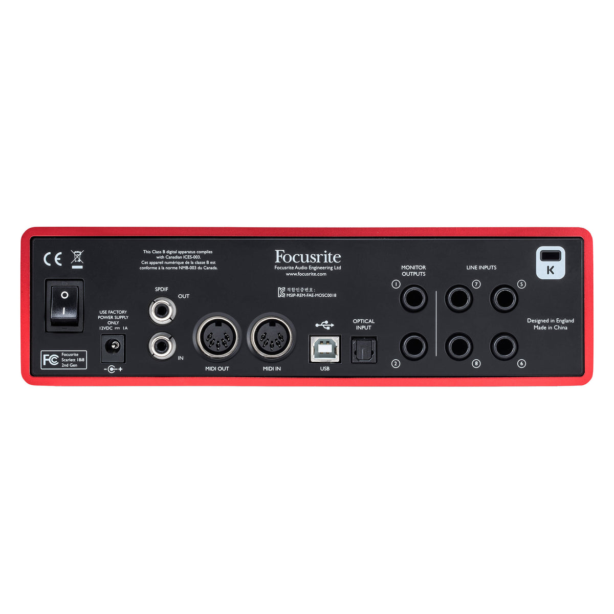 Focusrite: Scarlett 18i8 (2nd Gen) USB Audio Interface