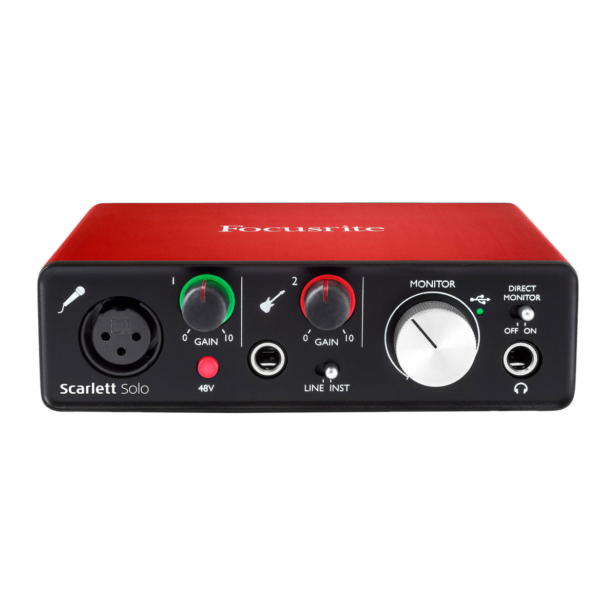 Focusrite: Scarlett Solo (2nd Gen) USB Audio Interface