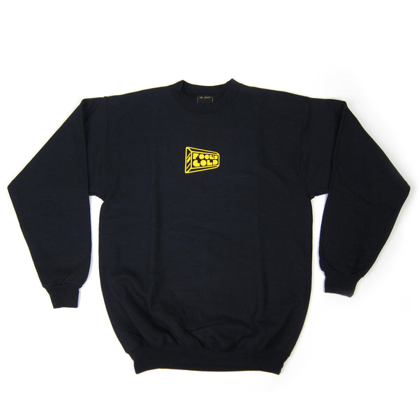 Fool's Gold: Micro Logo Crewneck Sweatshirt - Black