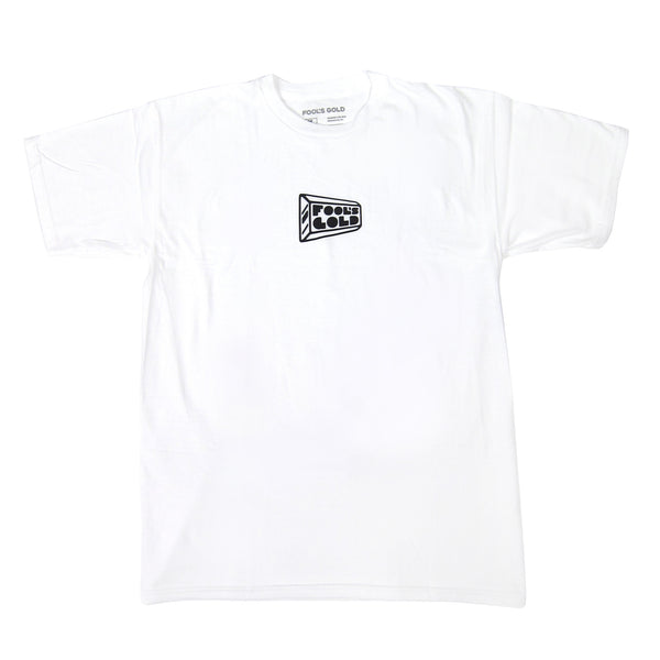 Fool's Gold: Micro Logo Shirt - White / Black