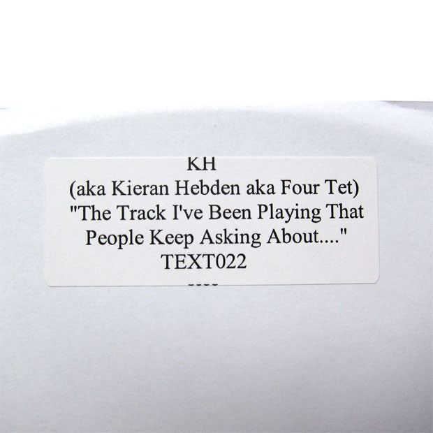 "Four Tet: KH - The Track I've Been Playing 12"" detail"