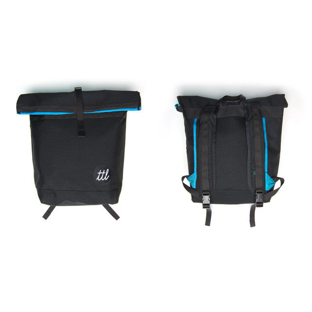 turntable lab rolltop bag - front/back