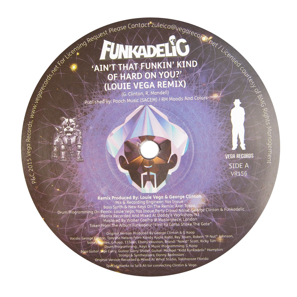 Funkadelic: Ain't That Funkin Kind Hard On You? (Louie Vega Remix) Vinyl 12""