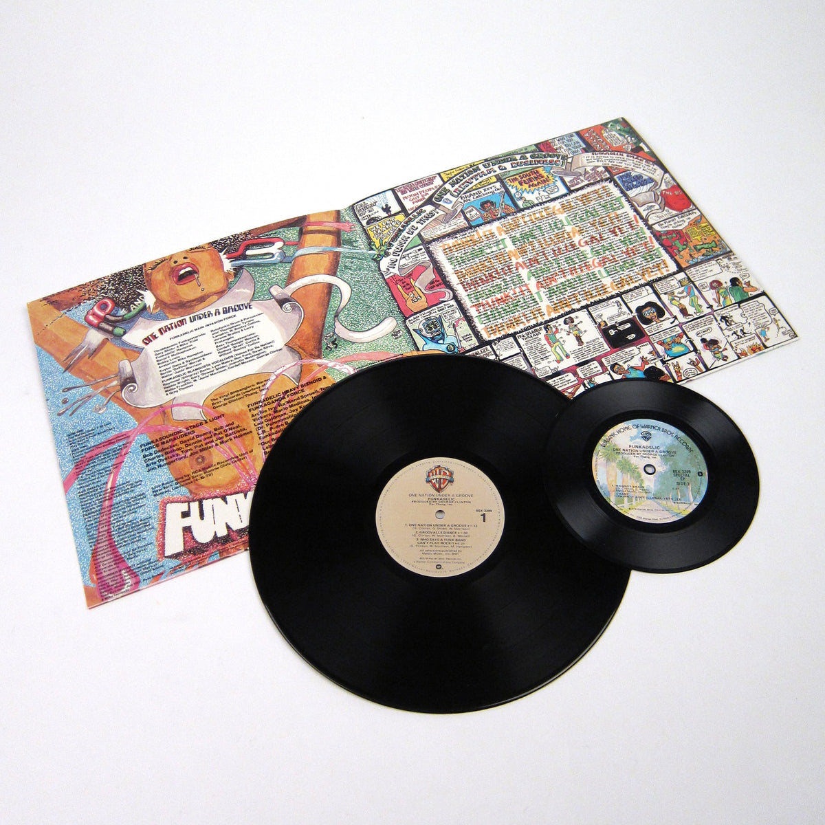 "Funkadelic: One Nation Under A Groove Vinyl LP+7"" - 2005 WB Pressing"