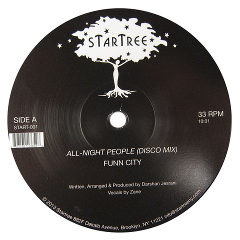 Funn City: All-Night People (Darshan Jesrani) Vinyl 12""